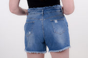 High Waist Ruffled Denim Shorts S-L-Bess & HJ-9Lilas