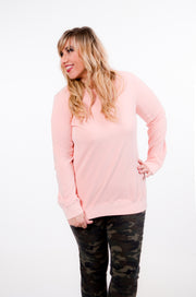 Blush Side Panel Sweatshirt S-XL-Bess & HJ-9Lilas