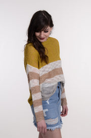 Mustard Open Knit Stripe Sweater S-L-entro-9Lilas