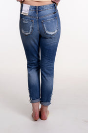 High Rise Distressed Mom Jean 1-13