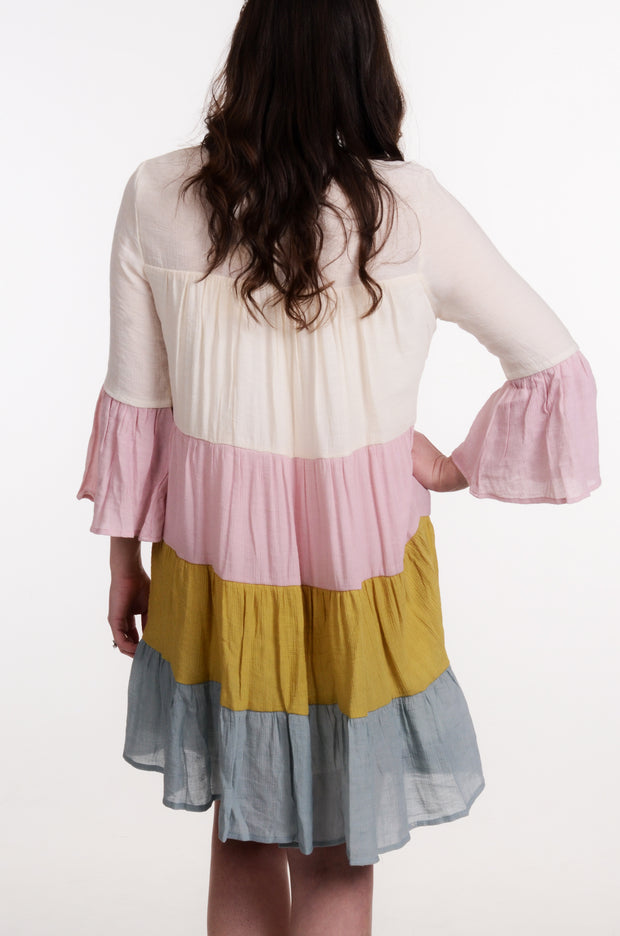 Pastel Color Block Ruffle Dress S-L-entro-9Lilas