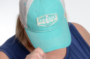 Red Rock Lake Trucker Cap-Hat-9Lilas