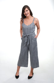 Grey Striped Jumpsuit-PAPILLON-9Lilas