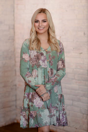 Jade Floral Tiered Ruffle Dress S-L