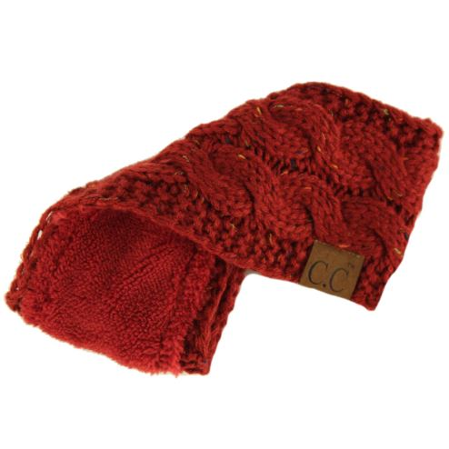 Cable Knit Headband-HEADBANDS-cc-Red-9Lilas