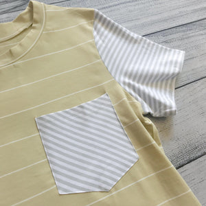 Pale Mustard Stripe Top