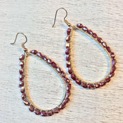 Glass Bead Wrapped Earrings