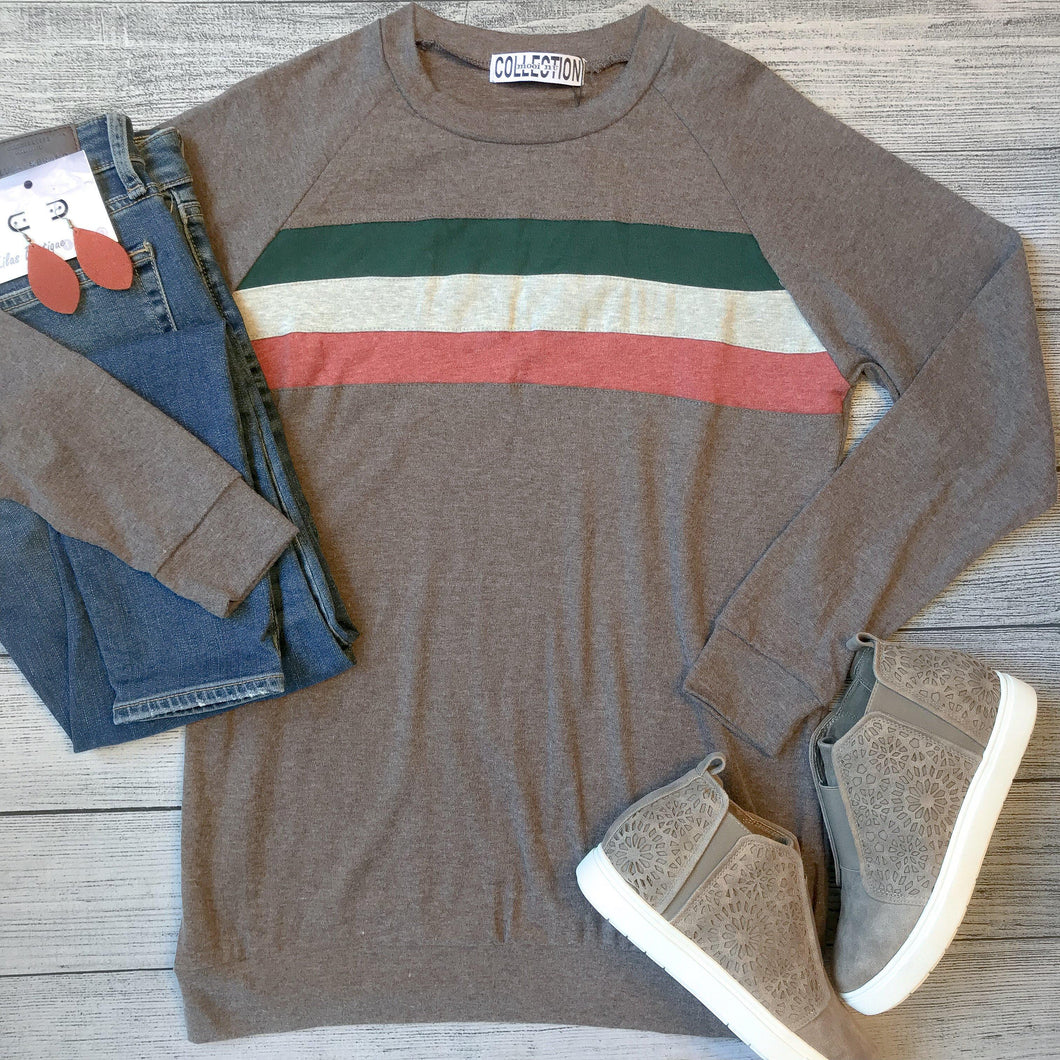 Tri-Color Blocked Top