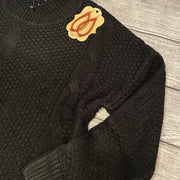 Black Cable Knit Sweater