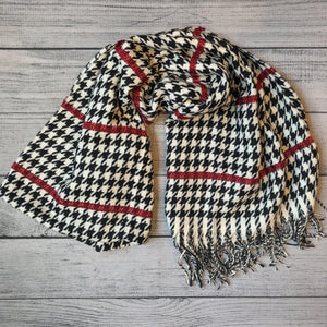 Red Herringbone Scarf