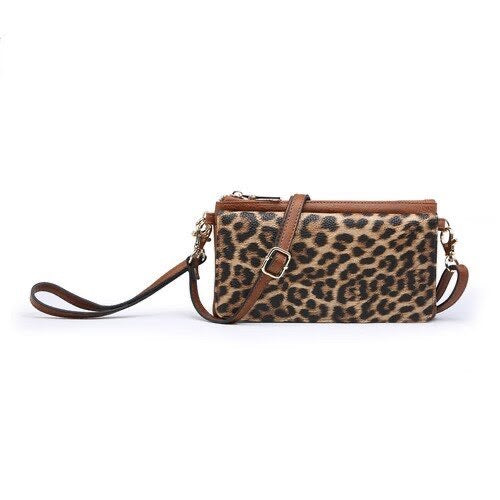 Leopard Crossbody/Wristlet-Purse-Jen & Co.-9Lilas