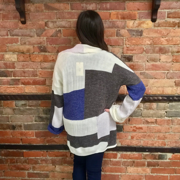 Charcoal & Grey Multi Cardigan