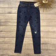 Embroidered Pull On Denim-Jegging-Coco + Carmen-Small-9Lilas