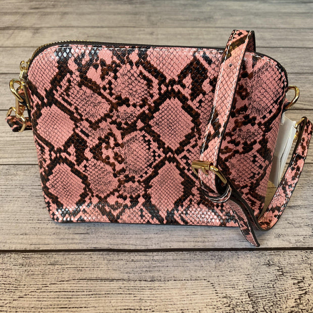 Pink Snakeskin Crossbody-Purse-Orchid Love-9Lilas