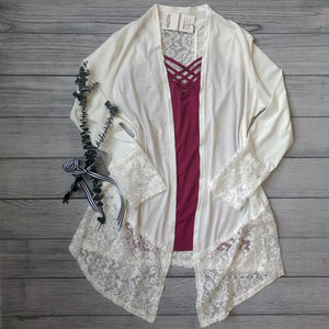 Knit Laced Cardigan