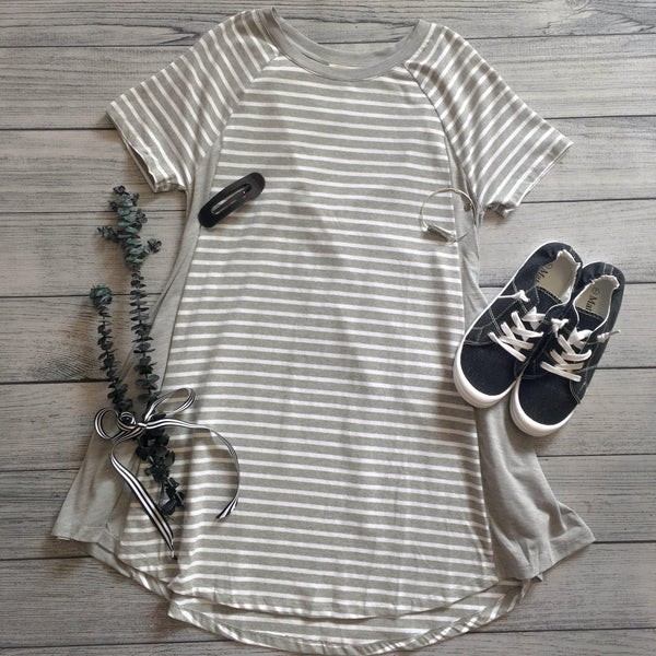 Striped Side Panel Dress