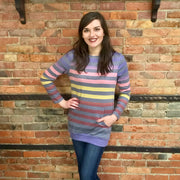 Multi Stripe Pocket Pullover