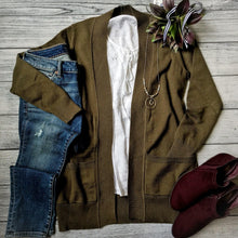 Olive Sweater Cardigan