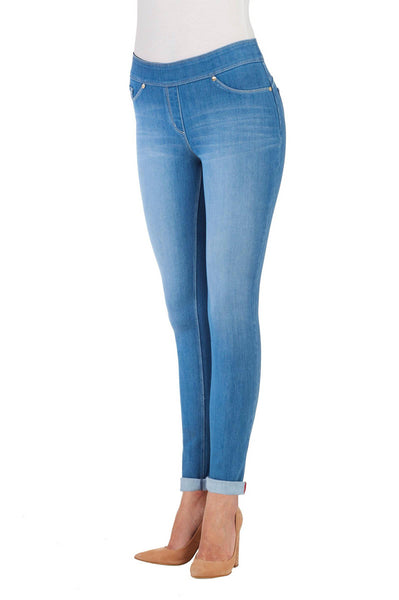 4-Way Stretch Skinny Cuff - Light Indigo