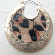 Leopard Cork Crescent Hoops