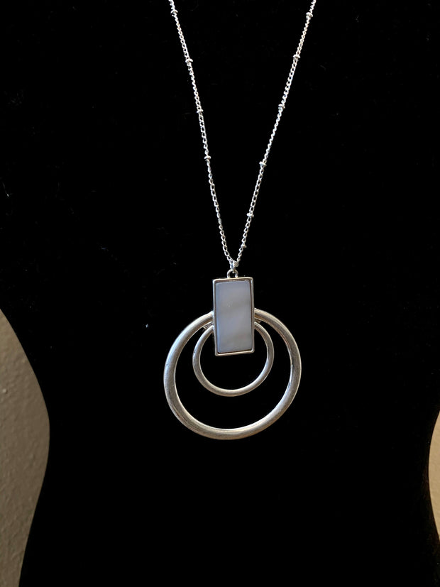 Open Double Circle Necklace Set