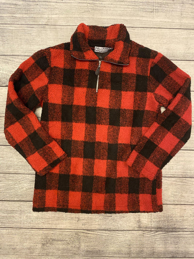 Red Buffalo Plaid Sherpa-pullover-Mooi Nu Collection-Small-9Lilas