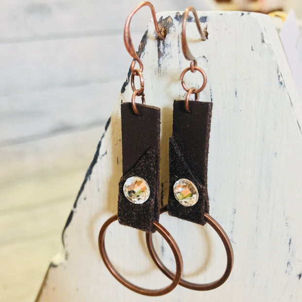 Suede Strapped Earrings