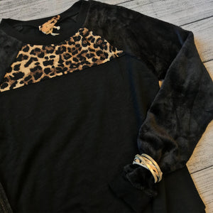 Fur & Cheetah Sweatshirt