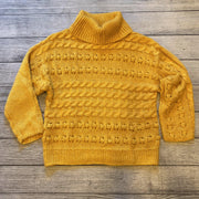 Mustard Knit Cowl Sweater-Sweater-see n be seen-Small-9Lilas