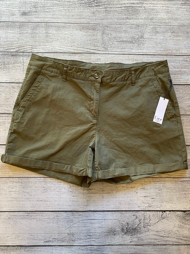 Olive Cuffed Shorts 14-22