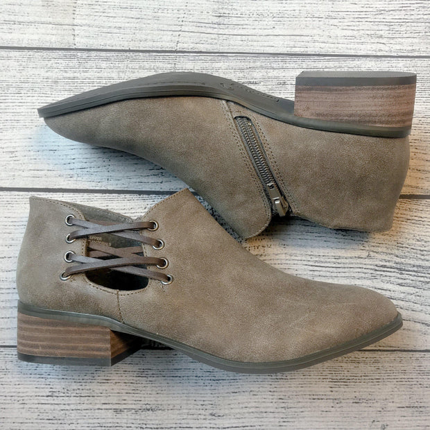Side Lace-Up Bootie