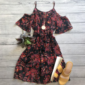 Bohemian Cold Shoulder Dress
