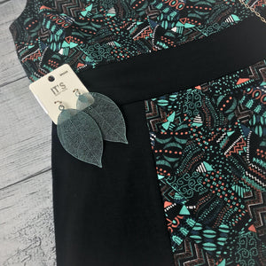 Teal Printed Panel Dess
