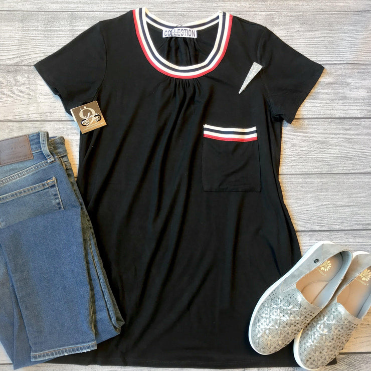 Athletic Pleated Pocket Tee