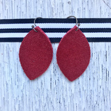 Leather Earrings - Small