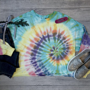 Raw Edge Tie-Dye Top