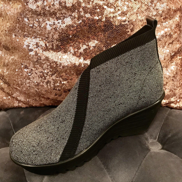 Metallic Woven Wedge