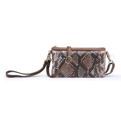 Snakeskin Crossbody/Wristlet-Purse-Jen & Co.-9Lilas