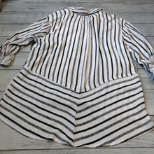 Hi-Low Striped Blouse