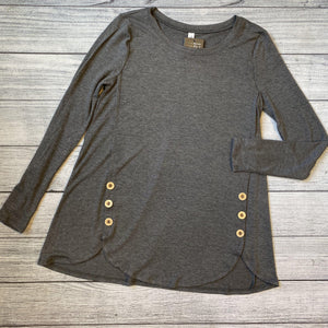 Wood Button Detailed Top