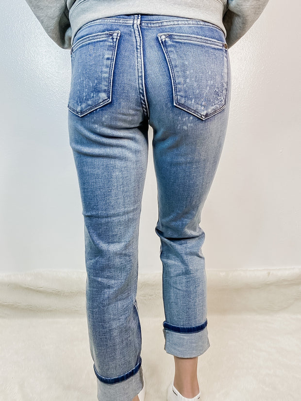 Destroyed Bleach Splattered Boyfriend Jeans 0-20W