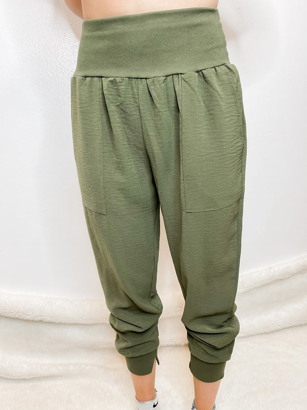Olive Apartment Pants