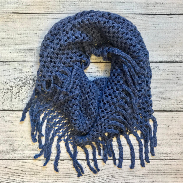 Two Tone Navy Infinity Scarf