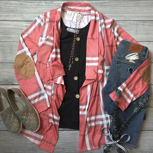 Waterfall Plaid Cardigan