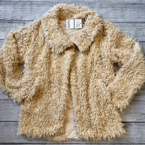 Camel Shag Fur Jacket