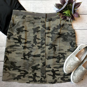Camo Button Down Skirt