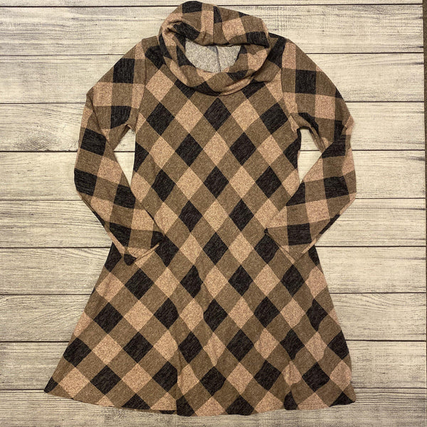 Plaid A-Line Sweater Dress