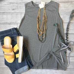 Heathered Side Knot Tank