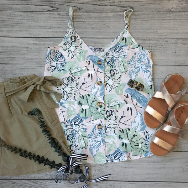 Tropical Button Tank