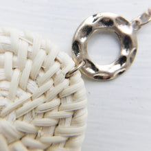 Braided Disc Pendant Necklace